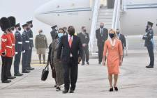 President Cyril Ramaphosa arrives in Cornwall, United Kingdom for the G7 Leaders' Summit. Picture: SA Presidency.