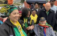 Wheelchair-bound Rivonia trialist and ANC struggle veteran Denis Goldberg voted in Hout Bay on 8 May 2019. Picture: @SAgovnews/Twitter