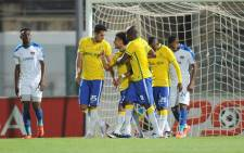 Mamelodi Sundowns players celebrate a goal against Chippa United in the PSL clash on 2 February 2016. Picture: PSL.