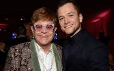 Sir Elton John (L) and Taron Egerton (R), who plays John in the 'Rocketman' biography. Picture: @taron.egerton/Instagram.