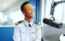 Major Mandisa Mfeka, South Africa's first black woman combat fighter pilot. Picture: @WingedSpanner/Facebook.com.