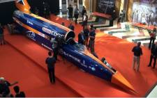 The BloodHound car project unveiled at the Canary Wharf on 24 September 2015. Picture: @702JohnRobbie via Twitter.