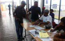 A Khayelitsha resident registers for this year's general elections on 8 February. Picture: Siyabonga Sesant/EWN.