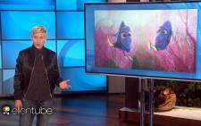 A screengrab shows US talk show host Ellen DeGeneres commenting on US President Donald Trump's travel ban. Picture: ellentube.com
