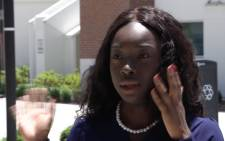 A screengrab of a Florida University student reacting to the graduation ceremony fracas.