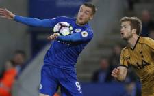 FILE: Leicester City's English striker Jamie Vardy (L) controls the ball as Tottenham Hotspur's English defender Eric Dier looks on during the English Premier League football match between Leicester City and Tottenham Hotspur at King Power Stadium in Leicester, central England on 18 May 2017. Picture: AFP.