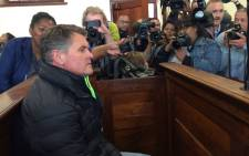 Sotheby's Realty CEO Jason Rohde arrives in the dock for his bail hearing. Picture: Anthony Molyneaux/EWN.