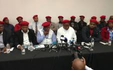 FILE: Julius Malema announces the formation of the Economic Freedom Fighters (EFF) on 11 July 2013. Picture: Sebabatso Mosamo/EWN.