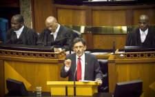 Economic Development Minister Ebrahim Patel delivers his speech during the Sona 2015 debate. Picture: Thomas Holder/EWN