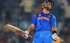 Indian batsman Virat Kohli celebrates after hitting the winning runs against the Proteas in the semi-final of the ICC World Twenty20. Picture: Facebook.