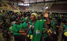 ANC members honoring the late Winnie Madikizela-Mandela during a memorial service at UJ in Soweto. Picture: Ihsaan Haffejee/EWN .