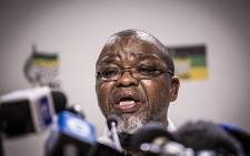 ANC Secretary General Gwede Mantashe at the ANC media briefing on the Constitutional Court judgement on 1 April, 2016. Picture: Reinart Toerien/EWN.