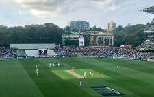 A view of Adelaide Oval in Australia during the day-night Ashes Test. Picture: facebook.com/pg/englandcricket