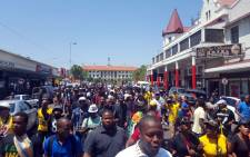 FILE: Students made their way from the busses to the Union Buildings during the Fees Must Fall march. Picture: Govan Whittles/EWN