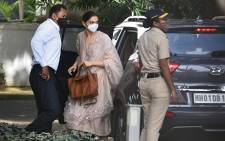 Bollywood actress Deepika Padukone arrives to attend questioning by Narcotics Control Bureau officials, in Mumbai on 26 September 2020. Picture: AFP.