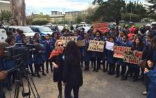 Sans Souci Girls High teacher Sarah Evans has pledged her support for learners protesting against the school's language and hair policy. Picture: Monique Mortlock/EWN.