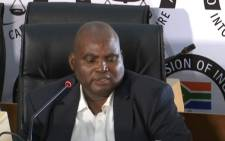 A screengrab of Transnet's former treasurer Phetolo Ramosebudi appearing at the state capture inquiry on 26 November 2020. Picture: SABC/YouTube
