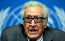 FILE: UN-Arab League envoy for Syria Lakhdar Brahimi attends a press briefing on peace talks at the United Nations headquarters on January 30, 2014 in Geneva.  Picture: AFP