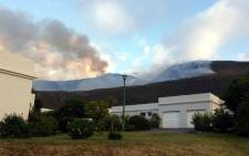 A vegetation fire broke out in Hermanus. Picture: EMR Private Ambulance Facebook page.