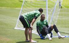 Bafana Bafana goalkeeper Itumeleng Khune at training at Steyn City School. Picture: Sethembiso Zulu/EWN