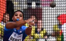 FILE: The USA's Gwen Berry competes in the Women's Hammer Throw heats at the 2019 IAAF World Athletics Championships at the Khalifa International stadium in Doha on 27 September 2019. Picture: ANDREJ ISAKOVIC/AFP