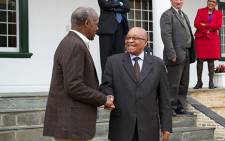 American actor Danny Glover meets President Jacob Zuma on 29 May 2013. Picture: Renee de Villiers/EWN