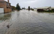The town of Struisbaai in the Western Cape was affected by heavy downpours and strong winds that resulted in flooding on 5 May 2021. Picture: Supplied