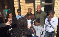 Amcu leader Joseph Mathunjwa hands over 34 houses to Marikana Massace victims' families in Eastern Cape. Picture: Twitter @Amcu