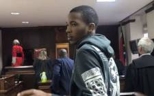 A screengrab of serial rapist Aviwe Hoya being sentenced in the Western Cape High Court on 30 August 2018.