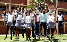 FILE IMAGE: Matriculants and their principal at the Edward Phatudi Comprehensive High School in Pretoria. Picture: Sebabatso Mosamo/EWN