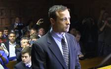 Oscar Pistorius in the dock in the Pretoria Magistrates Court on 4 June 2013 in connection with the death of his girlfriend Reeva Steenkamp. Picture: Christa van der Walt/EWN.