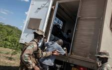 The SANDF members patrol the Lebombo border post between South Africa and Mozambique on 12 January 2021. It remains closed for arrivals following the announcement of new regulations by President Cyril Ramaphosa. Picture: Boikhutso Ntsoko/Eyewitness News.