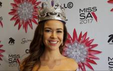 Adè van Heerden has taken over as Miss South Africa after Demi-Leigh Nel-Peters was crowned Miss Universe. Picture: EWN.