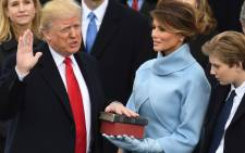 US President-elect Donald Trump is sworn in as President on January 20, 2017 at the US Capitol in Washington, DC. Picture: AFP.