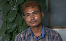 This screengrab provided via AFPTV and taken on March 14, 2021 shows Shing Ling, a former Myanmar soldier who deserted the military to join the democracy movement in the aftermath of the military coup, speaking during an interview with Agence France-Presse in Yangon. Picture: AFPTV / AFP.