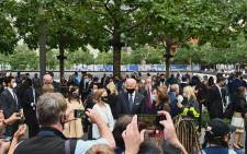 Democratic presidential candidate Joe Biden attends the 19th September 11 commemoration ceremony at the National September 11 Memorial & Museum in New York, 11 September 2020. Picture: AFP