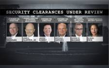 Trump, citing politics, looking to revoke security clearances.