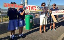 A group protests against rape in Heathfield on 31 January 2014. Picture: Rahima Essop/EWN.