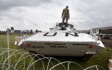 Peacekeepers in armoured vehicles from the UN's mission in the Democratic Republic of the Congo, MONUSCO. Picture: United Nations Photo.