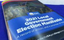 The Democratic Alliance will be launching its manifesto on 25 September 2021. Picture: @Our_DA/Twitter.
