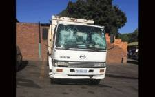A Pikitup truck stoned and damaged in Westbury allegedly by job seekers who demand to be forcefully employed by Pikitup. Picture: @CleanerJoburg/Twitter.