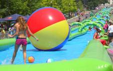 Several water slide events have been planned across the country. Picture: Facebook page for Slide the City Johannesburg