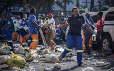 eThekwini municipal workers protesting over claims of unfair promotions that favoured struggle veterans in the Durban center. Pictures: Abigail Javier/EWN