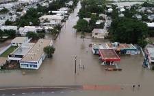 This handout photo from the Queensland Fire and Emergency Services (QFES) taken on 3 February 2019 and received on 4 February 2019 shows flooding in Townsville. Picture: AFP