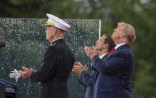 "President Donald Trump watches a flyover on 4 July, 2019 in Washington, DC. President Trump is holding a ""Salute to America"" celebration on the National Mall on Independence Day this year with musical performances, a military flyover, and fireworks. Picture: AFP."
