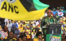 FILE: President Jacob Zuma delivering his 8th January statement to ANC members at Orlando Stadium as the party marks its 105th anniversary. Picture: Christa Eybers/EWN