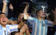 FILE: Argentina fans react to the 2014 Fifa World Cup final at the Fifa Fan Fest on Brazil's Copacabana Beach in Rio de Janeiro on 13 July 2014. Picture: Christa Eybers/EWN.