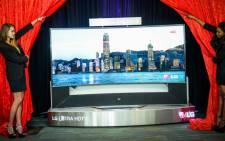 The 1,2 million LG TV set. Picture: LG SA.