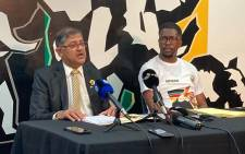 IFP national campaign committee Chairperson Narend Singh and IFP national Spokesperson Mkhuleko Hlengwa addressing the media on 22 Sepetmber on the party's readiness for the upcoming local government elections. Picture: