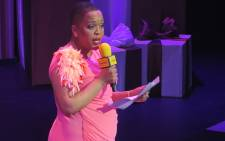 Tumi Morake had the pleasure of announcing that Trevor Noah had won the Comic of the Year award at the 5th annual Comics' Choice event. Picture: Louise McAuliffe